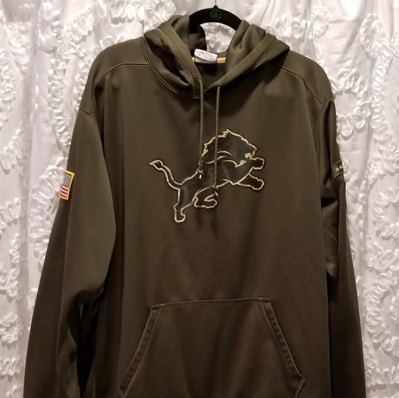 Nike  Detroit Lions Fleece Pullover Hoodie 🏈 d1504666c